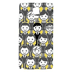 Man Girl Face Standing Galaxy Note 4 Back Case