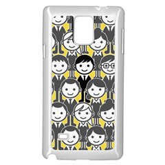 Man Girl Face Standing Samsung Galaxy Note 4 Case (White)