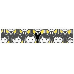 Man Girl Face Standing Flano Scarf (Large)
