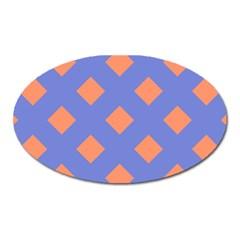 Orange Blue Oval Magnet