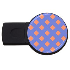 Orange Blue USB Flash Drive Round (1 GB)