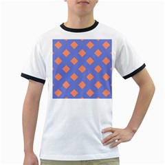 Orange Blue Ringer T-Shirts