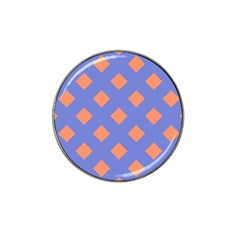 Orange Blue Hat Clip Ball Marker (10 pack)