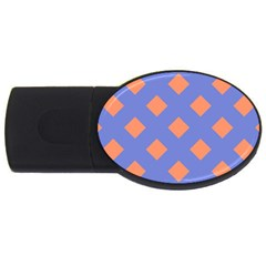 Orange Blue USB Flash Drive Oval (4 GB)