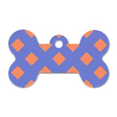 Orange Blue Dog Tag Bone (Two Sides)