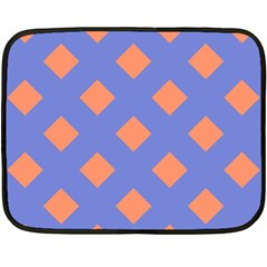 Orange Blue Double Sided Fleece Blanket (Mini)