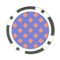 Orange Blue Poker Chip Card Guards (10 pack)