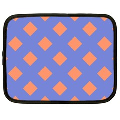 Orange Blue Netbook Case (XL)