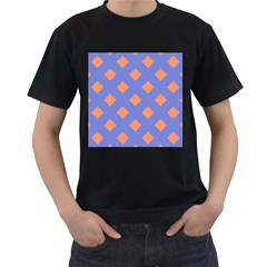 Orange Blue Men s T-Shirt (Black)