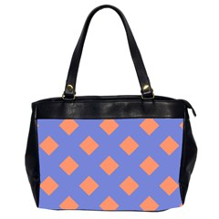 Orange Blue Office Handbags (2 Sides)