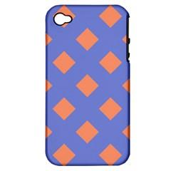 Orange Blue Apple iPhone 4/4S Hardshell Case (PC+Silicone)