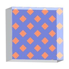 Orange Blue 5  x 5  Acrylic Photo Blocks