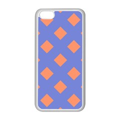 Orange Blue Apple iPhone 5C Seamless Case (White)