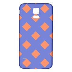 Orange Blue Samsung Galaxy S5 Back Case (White)