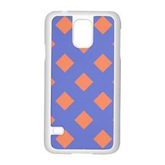 Orange Blue Samsung Galaxy S5 Case (White)