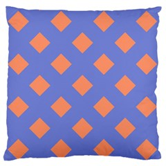 Orange Blue Standard Flano Cushion Case (One Side)