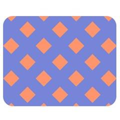 Orange Blue Double Sided Flano Blanket (Medium)