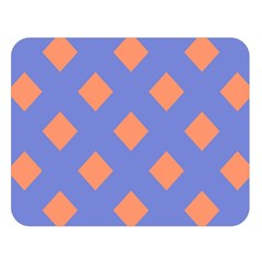 Orange Blue Double Sided Flano Blanket (Large)