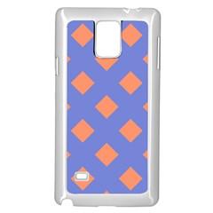 Orange Blue Samsung Galaxy Note 4 Case (White)