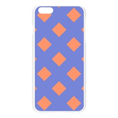 Orange Blue Apple Seamless iPhone 6 Plus/6S Plus Case (Transparent)