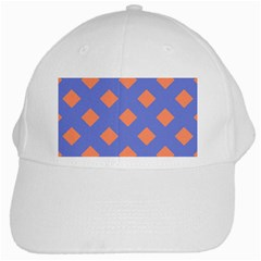 Orange Blue White Cap
