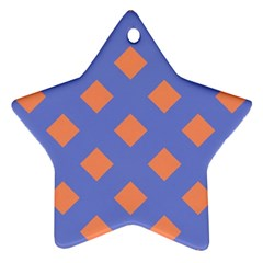 Orange Blue Ornament (Star)