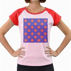 Orange Blue Women s Cap Sleeve T-Shirt