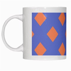 Orange Blue White Mugs