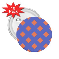 Orange Blue 2.25  Buttons (10 pack)