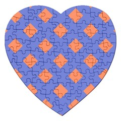 Orange Blue Jigsaw Puzzle (Heart)