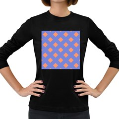 Orange Blue Women s Long Sleeve Dark T-Shirts
