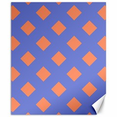 Orange Blue Canvas 8  x 10