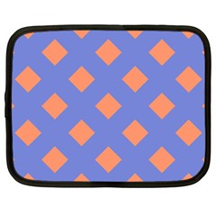 Orange Blue Netbook Case (Large)