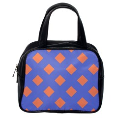 Orange Blue Classic Handbags (one Side)