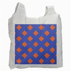 Orange Blue Recycle Bag (Two Side)