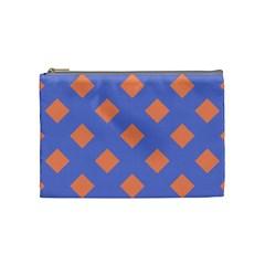 Orange Blue Cosmetic Bag (Medium)