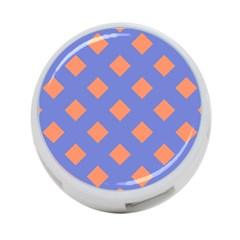 Orange Blue 4-Port USB Hub (One Side)