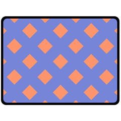 Orange Blue Fleece Blanket (Large)
