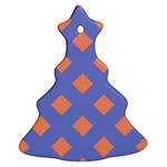 Orange Blue Ornament (Christmas Tree) Front