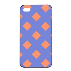 Orange Blue Apple iPhone 4/4s Seamless Case (Black)