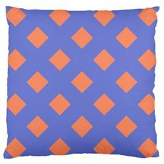 Orange Blue Large Cushion Case (One Side)