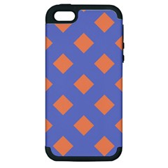 Orange Blue Apple iPhone 5 Hardshell Case (PC+Silicone)