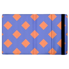Orange Blue Apple iPad 3/4 Flip Case