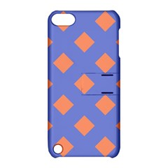 Orange Blue Apple iPod Touch 5 Hardshell Case with Stand