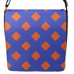 Orange Blue Flap Messenger Bag (S)