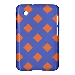 Orange Blue Samsung Galaxy Tab 2 (7 ) P3100 Hardshell Case