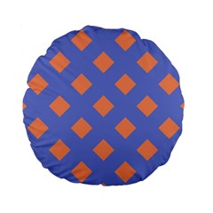 Orange Blue Standard 15  Premium Flano Round Cushions