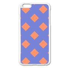 Orange Blue Apple iPhone 6 Plus/6S Plus Enamel White Case