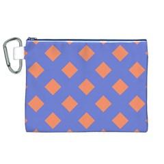 Orange Blue Canvas Cosmetic Bag (XL)