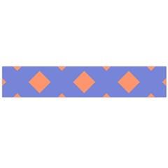 Orange Blue Flano Scarf (Large)